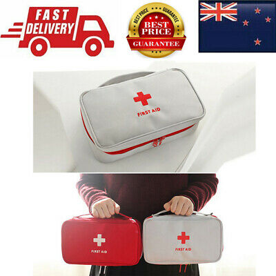 AU First Aid Kit Bag Emergency Medical Survival Treatment Rescue Empty Box Heal