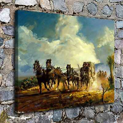"16""x22""Western Chase Paintings HD Print on Canvas Home Decor Wall Art Pictures"