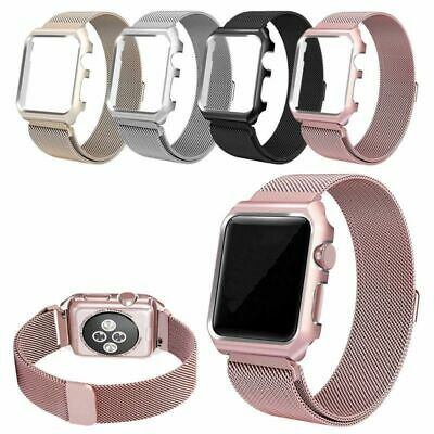 Milanese Magnetic Strap + Case For Apple Watch Series 4 3 2 1 40/44mm Band Cover