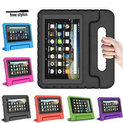 """EVA Foam Handle Kids Stand Cover Case For Amazon Kindle Fire 7"""" HD 8"""" Tablet+Pen"""