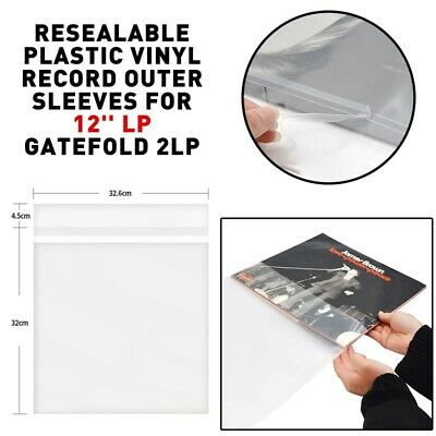 """100PCS 12"""" Inches Fit STANDARD SIZE Plastic Vinyl Record Sleeves Covers LP Outer"""