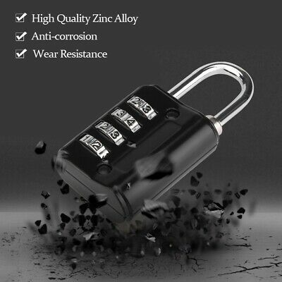 4-Digit Combination Password Lock Zinc Alloy Luggage Padlock Cod Lock Anti-theft