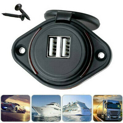 Auto Car Adapter Lighter Socket Dual USB Port Charger Power Outlet LED Display