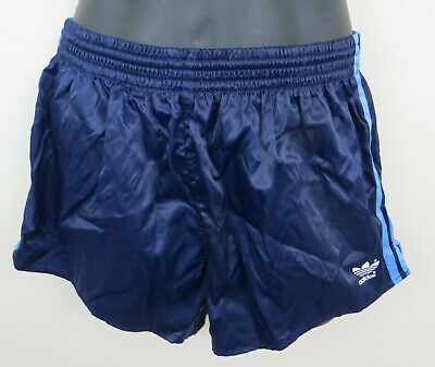 Vintage Adidas 80s 90s Shorts Blue Navy Retro Vtg Shiny Nylon Mens D7 7 Large L