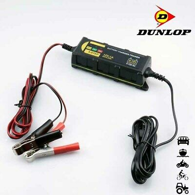Dunlop 6V 12V 1.0A 5 Step Automotive Car Bike Smart Intelligent Battery Charger