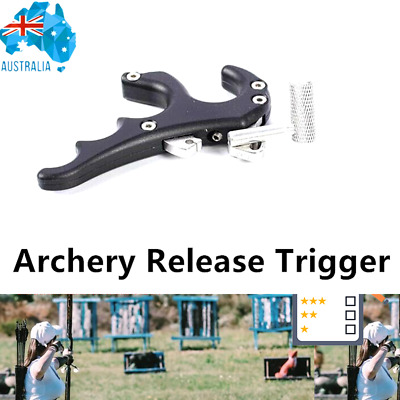 Arrow Release Aids Trigger 4 Finger Adjustable Hunting Compound Bow Archery Aim