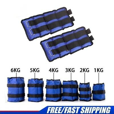 1KG-6KG Ankle Weights Leg Hand Wrist Adjust Straps Running Training Fitness Gym