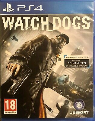 Watchdogs Watch_Dogs For Sony PlayStation 4 PS4 Supplied Boxed (Free Post)