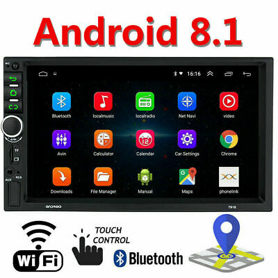 """Android 8.1 Car  Radio Stereo GPS Navigation MP5 Player Double 2Din WIFI 7"""" Inch"""