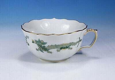 "Meissen "" Court Drache Dragon Green "" Teacup without Saucer 1.Wahl"
