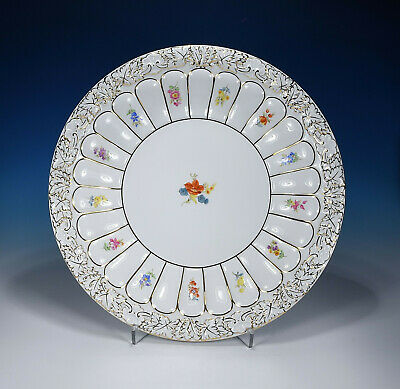 "Meissen "" Scattered Flowers X-Form "" Ceremonial Bowl 27 Cm. 1.Wahl"