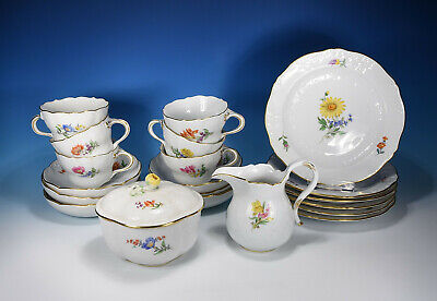 "Meissen "" Marseille Flower 2 Coffee Service for 6 People"