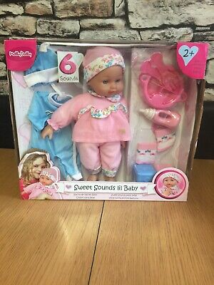Molly Dolly Sweet Sounds Lil' Baby Talking Girl Doll Accessories - Suitable Fo