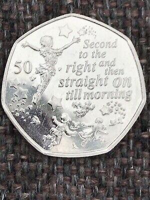 Flying PETER PAN 50p COIN  90th ANNIVERSARY NEW RELEASE 2019 UNCIRCULATED