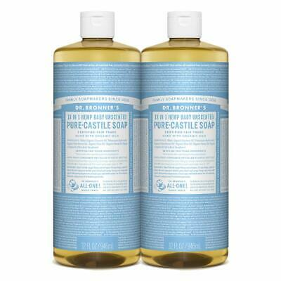 Organic All Natural Pure Castile Liquid Soap Biodegradable Baby Unscented Vegan