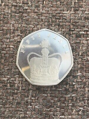 🇮🇲 IOM 2018 Isle of Man St Edwards Crown 50p coin - Circulated🇮🇲