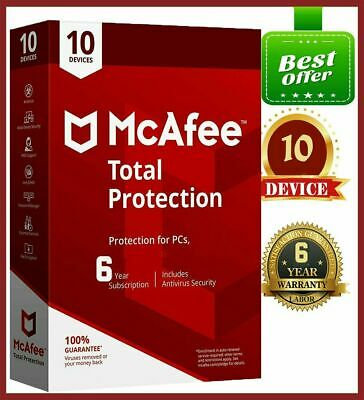 McAfee Total Protection 2020 Antivirus 🔥 10 Devices 5 Years 🔥Fast Delivery 📥