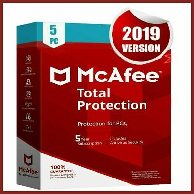 McAfee Total Protection 2019 Antivirus 🔥 5 Devices 5 Years 🔥Fast Delivery 📥