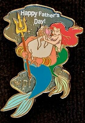 DISNEY PIN LITTLE MERMAID HAPPY FATHER/'S DAY 2015 ~ LE 2000 ~ NEW ON CARD