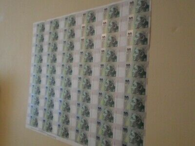 Slovakia - very scarce 60 x Kr. 20 Banknotes, uncut sheet, from 1st. print run.