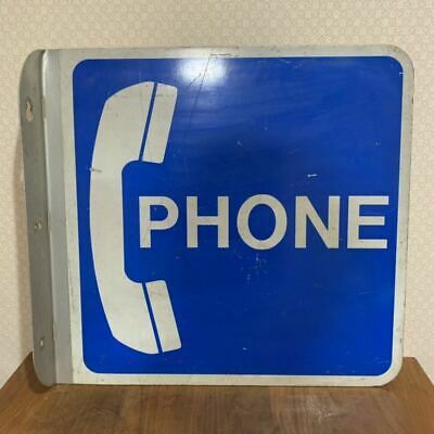Rare america vintage pay phone double sided signage sign interior display garage