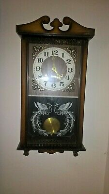 Vintage antique Wall Clock In Perfect Working Order 31 Day Strike with NEW key
