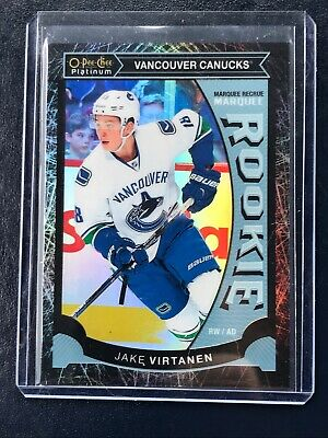 2015-16 O Pee Chee Platinum Black Ice Marquee Rookie Jake Virtanen 8/99