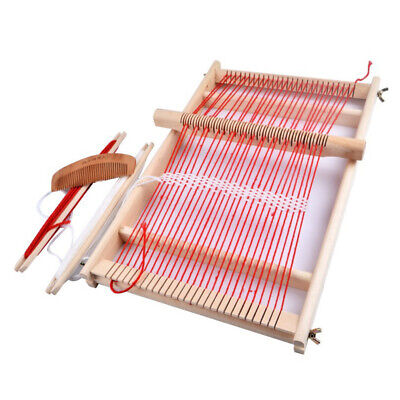 Toy Knitting Machine Easy Operate DIY Weaving Loom Wooden Frame Gift Traditional