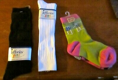 New Trumpette CAT Kid Socks  3 prs Size Small 2-3 yrs Girl gift Multi-color gift