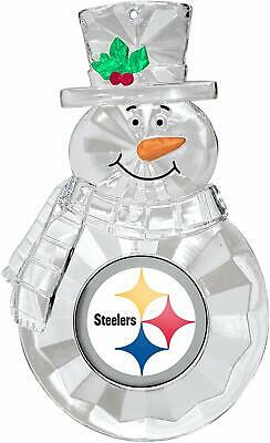 Pittsburgh Steelers Football NFL Traditional Snowman Christmas Tree Ornament