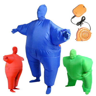 Sumo Inflatable Wrestling Fat Chub Suit Second Skin Fancy Dress Party Costume