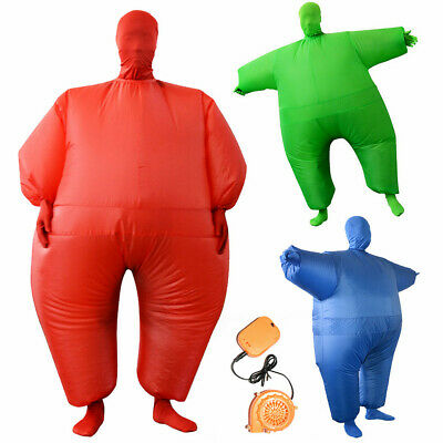 Inflatable Fat Chub Suit Fancy Dress Stag Hen Party Costume Adult Blow Up Suit