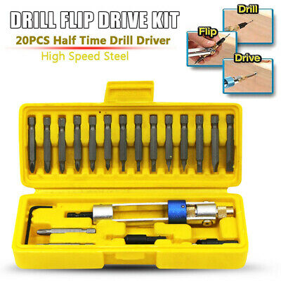 Multi-function Drill Flip Drive Kit 20pcs Drill Bit Set