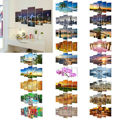 Set of 5 Modern Canvas Wall Art Prints Painting Picture Home Living Room Bedroom