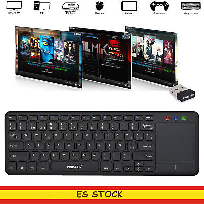 TECLADO INALÁMBRICO Proster WIRELESS TOUCH NEGRO KEYBOARD con Raton Touchpad