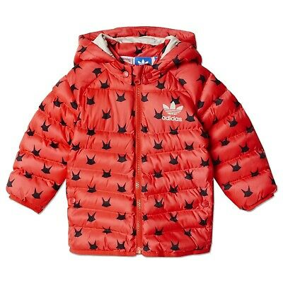 Adidas Originals Children Mf Padded Winter Jacket Rabbit Pink Red Raspberry