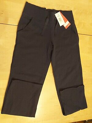 M&S girls navy blue cotton rich joggers aged 12-13 years BNWT
