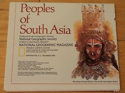 National Geographic MAP  December 1984  Peoples of South Asia