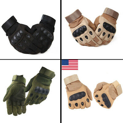 Army Hunting Shooting Full Finger Military Gloves Cycling Hard Knuckle Gloves