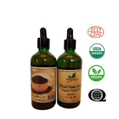 Black Cumin Seed Carrier Oil Unrefined - cold pressed USDA Certified Organic