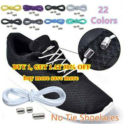 Elastic Silicone No Tie 'Lazy' Shoe Laces Shoelaces Trainers Shoes Adult&Kids.