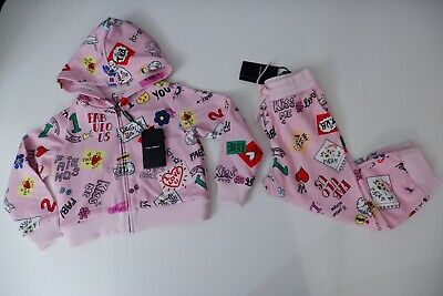 Dolce & Gabbana NEW pink Tracksuit Hoodie & Bottoms Age 3 Years D&G Girls BNWTS
