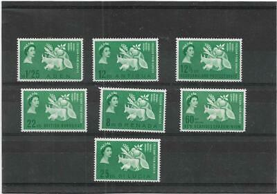 British Commonwealth Various Green 1963 Freedom From Hunger Mint Collection Mlh