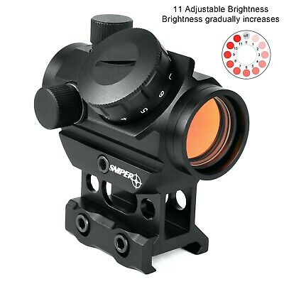 Sniper Reflex Red Dot Sight Scope 3 MOA with High Profile Rail mount