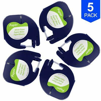 5PK Compatible with Dymo Letratag Refill 91330 (10697 S0721510) Paper Label Tape
