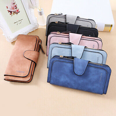Women Lady PU Leather snap Wallet Long Card Holder Purse Handbag Bag With Zipper