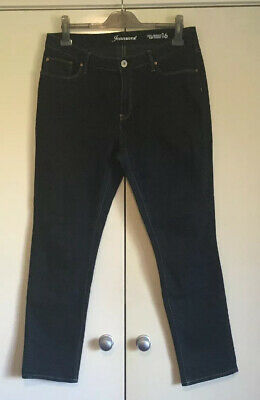 Jeans West Women's Curve Embracer Slim Straight Blue Denim Jeans Size 16