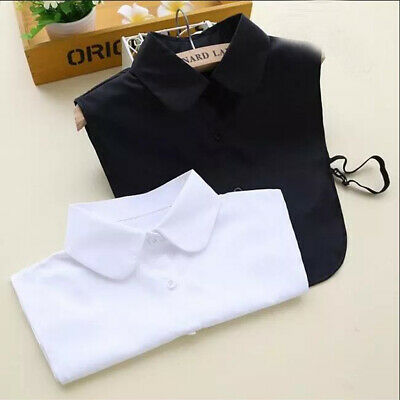 US Detachable Peter Pan Women Lapel Shirt Fake False Collar Choker Necklace #CM