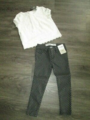 Girls Next And Primark Outfit Top & Trs  Age 4-5 & 5-6 Bnwt