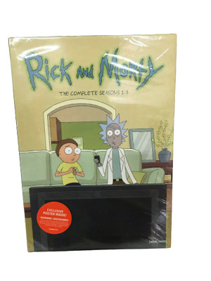 Rick and Morty The Complete Seasons 1-3 (DVD 6-Disc Set) NEW Sealed